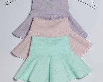 BJD Unoa/MSD jersey skirt (pastel colors)