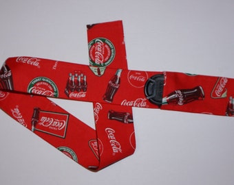 Coca cola Camera Strap Cover with pocket for photographer gift