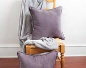 Plum Velvet Pillow, Purple, Velvet Pillow, Purple Pillow, Lilac, Lavender, Accent Pillows, Overstuffed Pillow, Throw Pillow