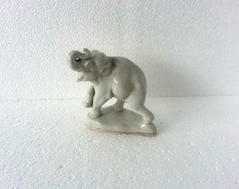 Elephant figurine Vintage art ceramics Gorodnitsa porcelain Soviet vintage 1960s soviet union Collectibles elephant décor Fine art ceramics