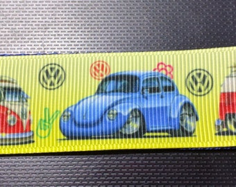 VW Volkswagen Peace Dog Collar -  Yellow Dog Collar FREE Shipping