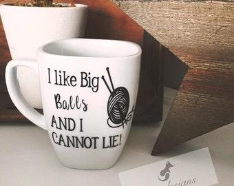 Gift For Knitters, Knitting Mug, Coffee Mugs, Custom Mugs, Funny Mug Sayings, Knitting, Personalized Coffee Mug, Gift Ideas, Ceramic Mug