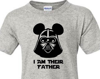 SALE!! I Am Their Father Shirts, Darth Vader Dad Vacation Shirts, Disney World, Disney Shirts, Disney Vacation, Dad Tee, Star Wars