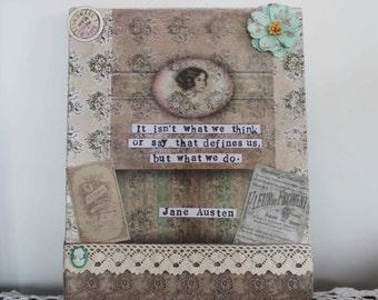 Jane Austen Mixed Media Canvas