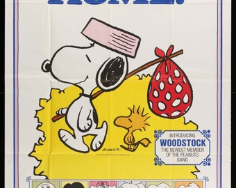 """Snoopy Come Home (1972) Vintage Three-Sheet Movie Poster - 41""""x 81"""""""