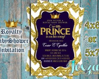Royalty Prince Baby Shower Printable Invitation
