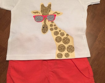 Girls giraffe shirt