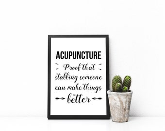 Acupuncturist Printable - Funny Gifts For Acupuncturist - Acupuncturist Gifts- Acupuncture Poster - Acupuncture Wall Art - Acupuncture Print