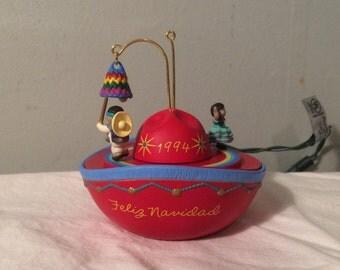 "Vintage Hallmark ""Magic"" Ornament - 1994 ""Feliz Navidad"""