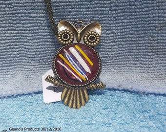 Bronze Owl with 'Germaine Pink' fitting