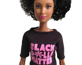 11.5″ doll T-shirt (pink)