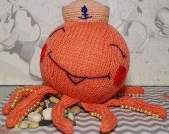 Octopus-Sailorman Toy Octopus Stuffed toy Octopus Knitted toy Octopus