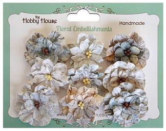 Boutique Paper Flowers - Vintage Blooms Blue