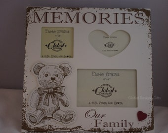 Photo Frame Teddy Memories Picture Frame Collage Our Family F1433A