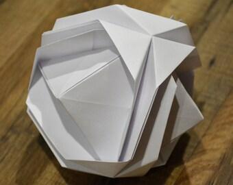 Japanese Brocade, Modular Origami, Unique Decoration, Home Accent, Origami Sculpture