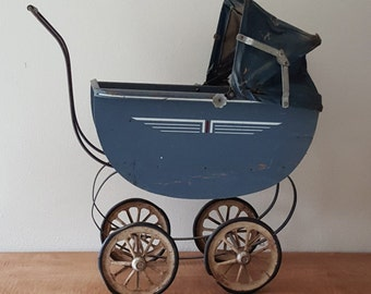 Doll Buggy Antique Doll Carriage Baby Doll Buggy 1900 Original Condition Antique Child's Doll Pram Collectable Toy