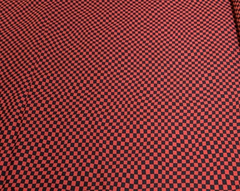Race Day-Red and Black Checkered Cotton Fabric from Wilmington Prints