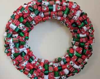 Christmas Ribbon Wreath
