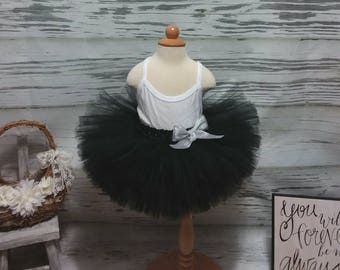 Free Shipping Black Fluffy Tutu Skirt-Baby Tutu Skirt-infant Tutu Skirt-photo Prop