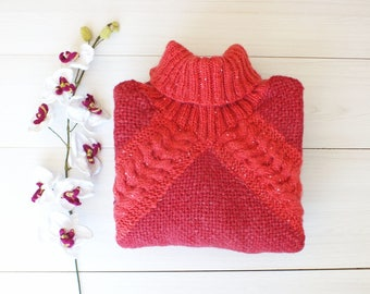 Women ponchos, Chunky knit Poncho, Womens Poncho, Knitted Poncho, Cowl neck poncho,  knit capes, wool coats,  Knitwear