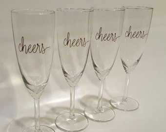 CHEERS Champagne flutes