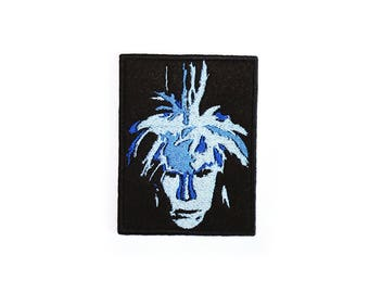 Andy Warhol Patch Iron On Embroidered Patches Applique • Pop Art Picture