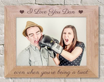 Swear Word Gift, Funny Photo Frame, Funny Couple Frame, Sweary Couple Gift, I Love You Gift, Gift For Him, Gift For Husband, Joke Gift