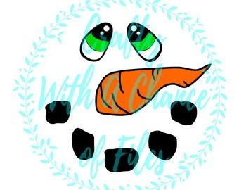 Snowman Face SVG Christmas SVG Ornament SVG Wine Glass Svg Snowman Svg Snow Svg Holiday Svg Winter Svg Vector Dxf Png Jpg Digital Download-