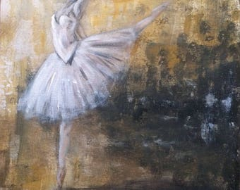 Abstract Ballerina painting