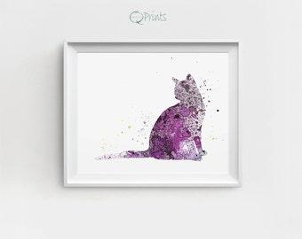 Watercolor Cat Print, Cat Decor, Digital Cat, Cat Printable, Cat Painting, Cat Wall Print, Large Printable, Gift for Children, Nursery Decor