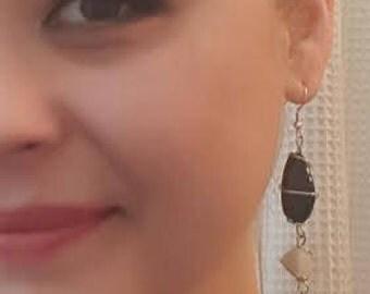 Whimsical Stone Earrings, Handmade Women's Earrings, Artsy Unique Accessories, Rustic Drop Earrings, Geologist Jewelry, Statement Earrings