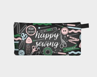Gifts for Sewers, Gift for Seamstress, Sewing Gifts, Sewer Pencil Case, Seamstress Case, Sewing Accessories Bag, Sewing Accessories Pouch,