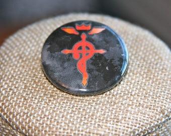 Fullmetal Alchemist Flamel Button, Fullmetal Alchemist Flamel Pin