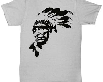 Native American Indian Chief Shirt Tee T-shirt S - 5XL  7 Colours
