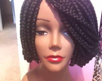 Ade Ori  Handmade braided bob wig