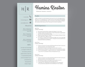 Resume Template | Professional resume template | Impressive CV | Elegant CV | For Any Job Application CV Template | Creative resume template