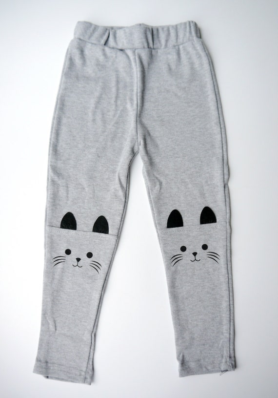 Cat Face Girls Leggings