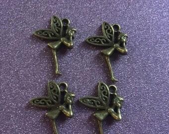 4 Bronze small Fairies