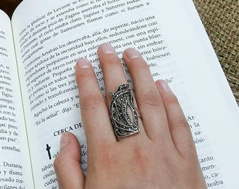 Marcasite Statement Sterling Silver Ring Gift for her. Silver Jewelry