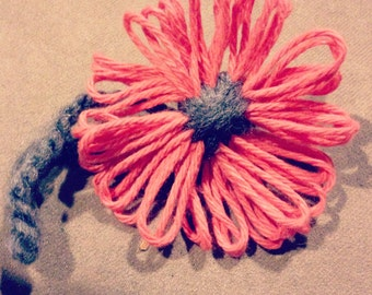 Handmade Handknit Flowers - The Perfect Accessory - Just In Time for Spring