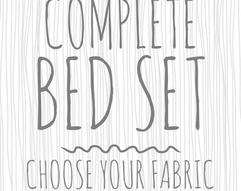 Complete Bed Set. Nursery Bedding. Baby Bedding. Baby Bed Set.