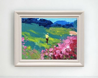 Augusta Golf Club Painting Original Golfer Art Oil on Canvas Golf Art Sport Painting Augusta Master Golf Art Gifts for Him Gifts for Her