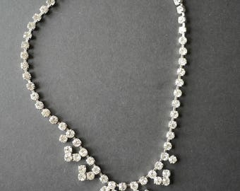 Diamante rhinestone vintage choker necklace