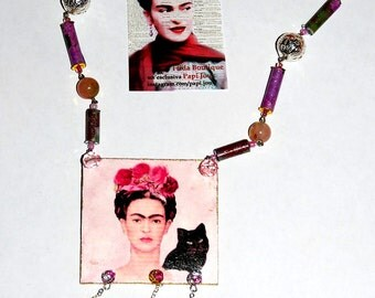 "Capsule collection ""Frida""-pink necklace"