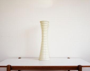 Large white vase vintage ceramic resin design