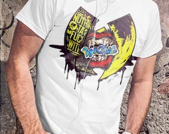 Wu Tang Clan T-shirt Red Wu Tang  Tshirt Rap Men Shirt Hip Hop Tee  chocolate Man  T-shirt