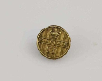 14K Yellow Gold Sinclair Oil Company 15 Year Service Appreciation Pin