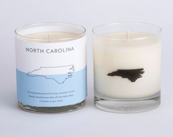 North Carolina State Soy Candle Scented Candle North Carolina Candle Home State Candle Hostess Gift The Original Scripted Fragrance Candle