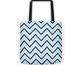 Zigzag Pattern Tote Bag