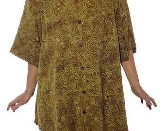WeBeBop Women's Plus Size Jamaica GOLD New Tunic Top